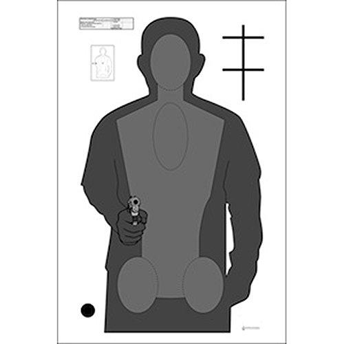 48 Pcs Ohio Peace Officer Training Academy Cardboard Qualification Target Black Gray On White Cardboard 24 X 40