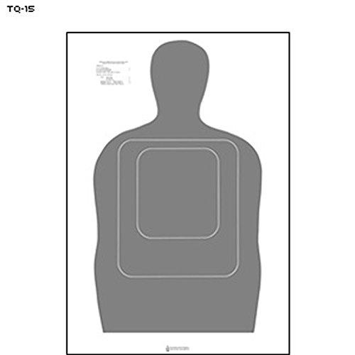 48 Pcs Standard Tq-15 Qualification Target 25 Yard Silhouette Gray Size 24 X 45