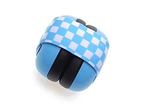 Andosange Warmers Earmuff Newborn Elastic Band Baby Soundproof Earmuffs Hearing Protection Ear Muffs Noise Reduction Ear MuffsBlue Color  Blue Blue Size  12x12cm