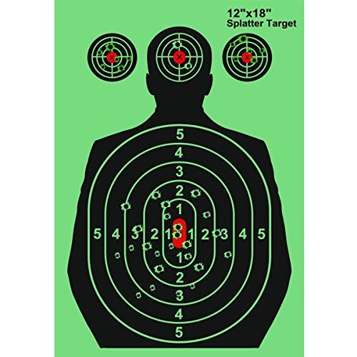 Okela Splatterburst Shooting Targets 12×18 Reactive Shooting Targets See Your Hits Instantly for GunRiflePistolAirSoftBB GunPellet GunAir Rifle