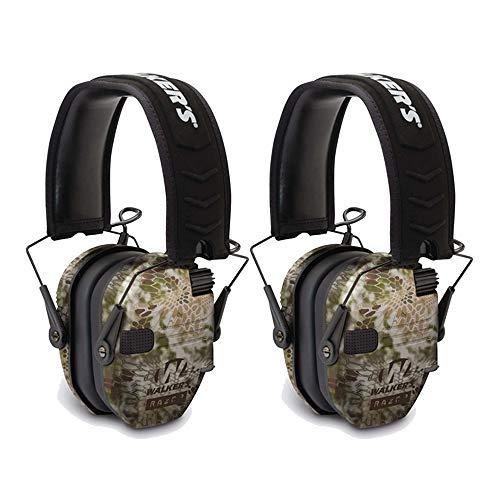 Walkers Razor Slim Electronic Shooting Muffs 2-Pack Kryptek Camo 2 Items