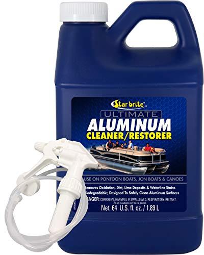 Star Brite Ultimate Aluminum Cleaner Restorer - Safely Clean Pontoon Boats Jon Boats Canoes