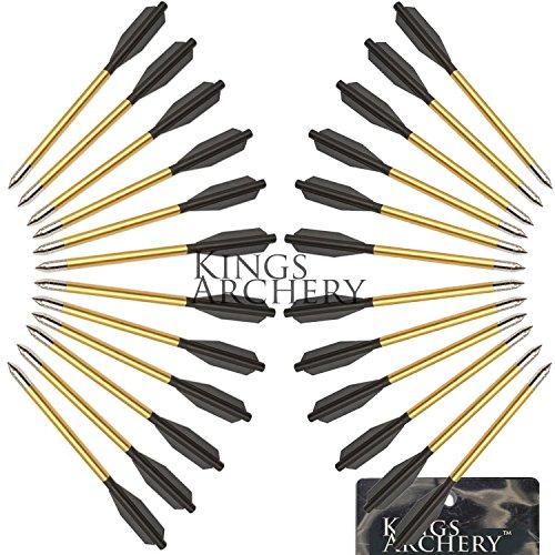 KingsArchery Crossbow Arrows Aluminum 24 Pack 6 inch bolts in Black and Gold for Hunting Crossbow Pistol Precision Target Arrow  KingsArchery Warranty