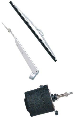 AFI 32000 STD Marine Windshield Wiper Kit 12-Volt 25-Inch Shaft 80-Degree Sweep