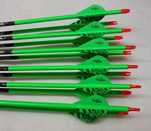 Carbon Express Piledriver Hunter 350 Carbon Arrows wBlazer Vanes Wraps 1 Dz