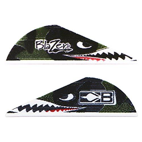 Bohning True Color 2 Blazer Vanes Flying Tiger Shark  Blazer Vane 100pk
