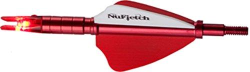 NUFLETCH ARCHERY LLC Nufletch APE TAIL Straight Red Fletch wRed Lighted Nock