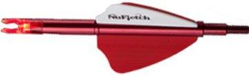 NUFLETCH ARCHERY LLC Nufletch APE Tail Light Red Offset Fletch wRed Lighted Nck