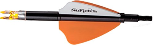 Nufletch Archery Nufletch Spectrum Light Black Offset Fletch WOrange Lighted