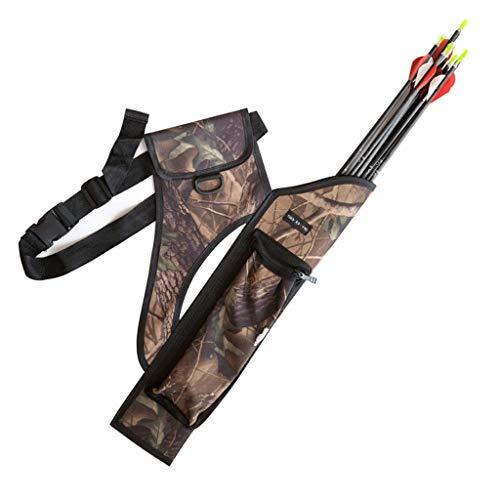 ZSZKFZ Composite Bag Quiver Archery Camouflage Bag Quiver Quiver Waist Hanging Large Capacity Quiver Bag