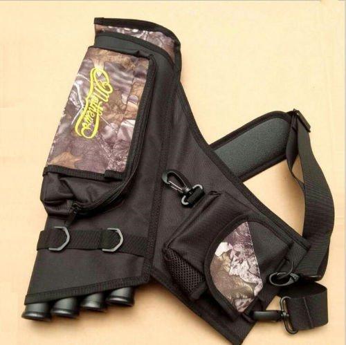 e5e10 Camo Outdoor Archery Arrow Holder Archery Quiver Bag 4 Tubes Arrow Pot