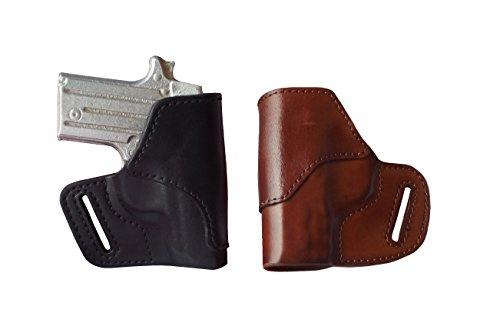 J&J Custom Fit Kahr CW9 OWB Belt Carry Formed Premium Leather Holster