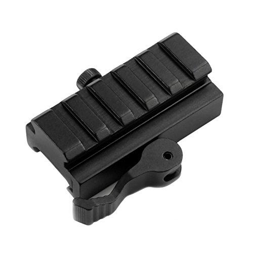 Mizugiwa 5-Slot QD Lever Mount Adaptor and Riser Medium Profile Black