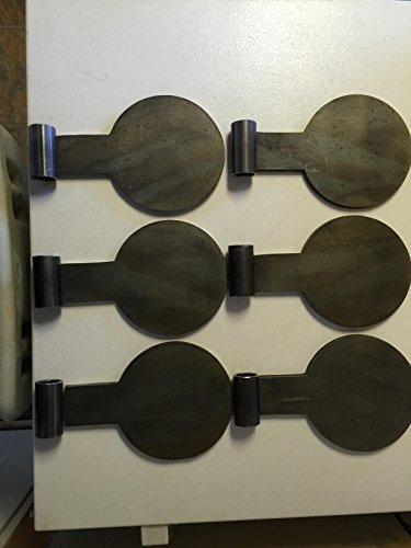 AR500 Dueling Tree Paddles Steel Target DIY 6 plate kit- 6 From Bullseye Metals