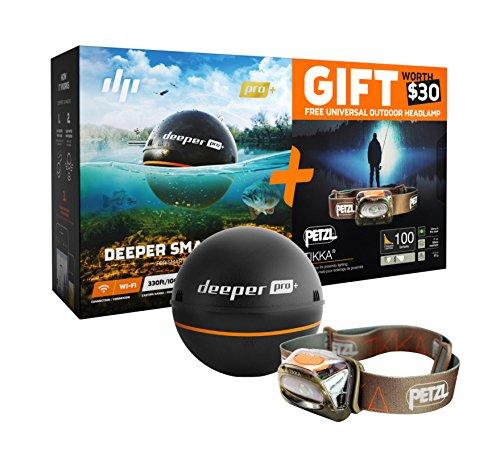 Deeper Smart Sonar PRO Special Bundle Offer – GPS Portable Wireless Wi-Fi Fish Finder FREE GIFT Petzl Tikka Headlamp