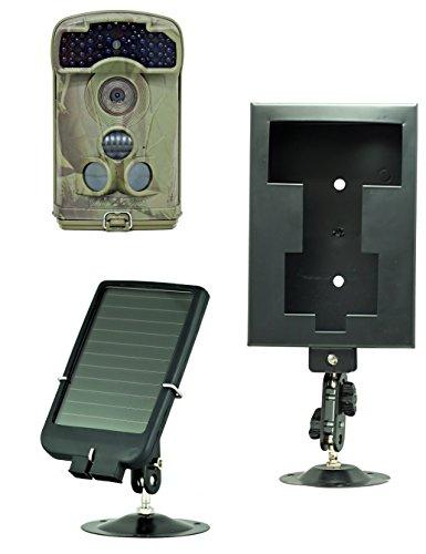 Ltl Acorn 6310MC 12MP HD Digital Activated Camera  Solar Panel Charger  Security Box