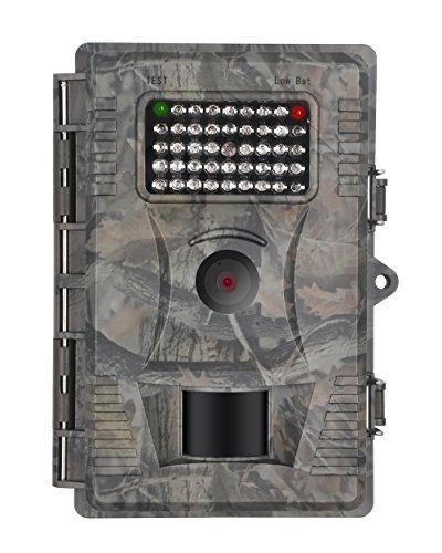 FULLLIGHT TECH 1080P HD Game Trail Camera 12 MP Infrared Night Vision Low Glow Motion Activated Wildlife Hunting Cameras with 42 IR Leds and IP54 Water Protected Design
