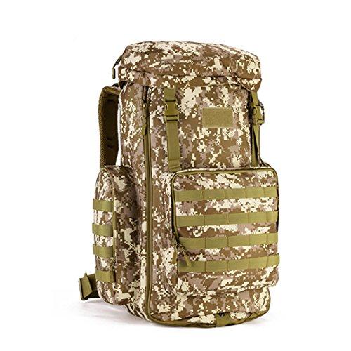 Huntvp Military MOLLE Backpack Rucksack Tactical Gear Bag Adjustable 70-85L Large Capacity Assault Pack For Hunting Camping