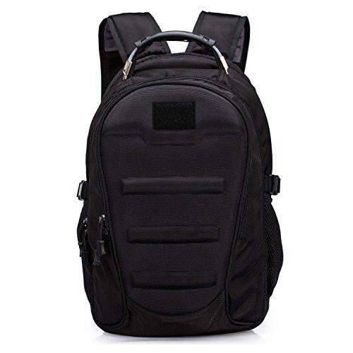 Huntvp Military Tactical Backpack Rucksack Gear Assault Pack Student School Bag with USB PortBlack