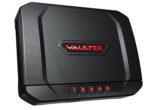 Vaultek VT20 Handgun Bluetooth Smart Safe Pistol Safe with Auto-Open Lid and Rechargeable Battery Not Compatible with Smart Key