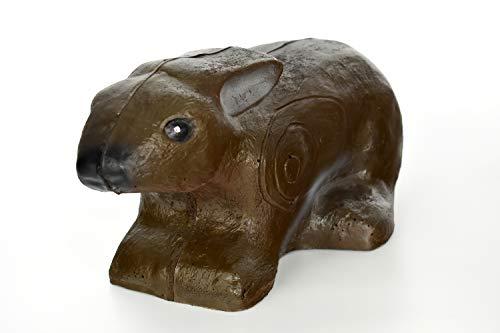 KHAMPA Self-Healing UV Protected High-Density Mini Rabbit - Lifelike 3D Archery Target