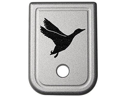 Goose Silhouette 1 Silver Floor Base Plate for Glock Gen 1-4 G20 G21 G29 G30 G40 G41 10mm 45 Caliber