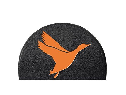 Jentra Grip Plug for Glock Gen 1-3 17 19 21 22 23 24 34 35 Orange Filled Goose Silhouette 1