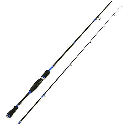 Entsport 2-Piece Spinning Rod Graphite Portable Spinning Fishing Rod Inshore Spinning Pole Freshwater Spin Rod 8-20-Pound Test 7 Medium Heavy