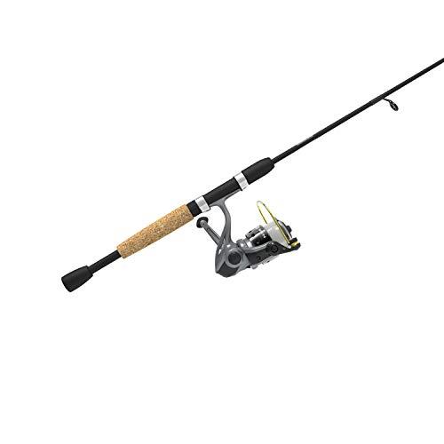 Zebco Spyn Spinning Reel and 2-Piece Fishing Rod Combo Split-Grip Cork Rod Handle Instant Anti-Reverse Fishing Reel Size 20