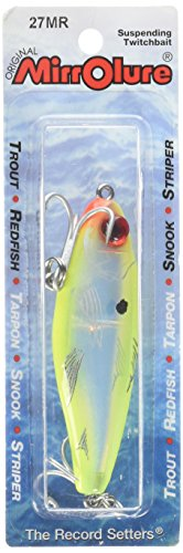 MirrOlure 27MR-CH 3-18-Inches Mirrodine Fishing Lure XL