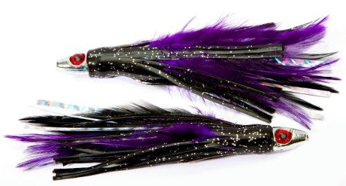 Boone Feather Trolling Jig Pack of 2 PurpleBlack 4-Inch