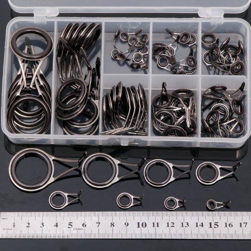 75 X Fishing Rod Guides DIY Parts Rod Building Repair 8 Sizes