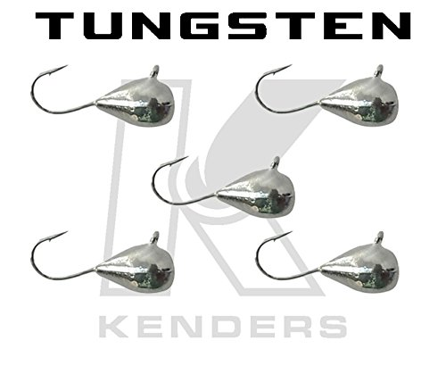 5 Pack Tungsten Jig - SILVER METALLIC 5mm - 12 Hook