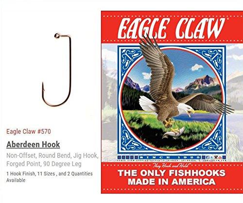1000 Eagle Claw 570 Jig Hooks Size 6