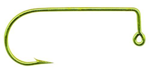 Mustad 32755 Classic Aberdeen 90-Degree Bend Extra Strong Short Shank Jig Hook 100-Pack Gold Size 8