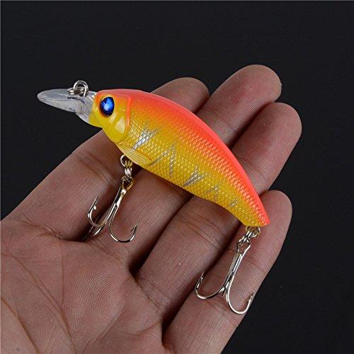 Bass Fishing Lures Freshwater Fishing Lures - 1PCS 4 Colors Plastic Hard Crank Crankbait Baits Fishing Lures Two Treble Hooks Pesca - Bass Fishing Hooks C1