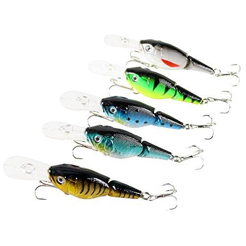 Fishing lures Hard Bait Minnow Bass Fresh Salt Water Lure Baits 5 pclot 9cm 106g 6hook multicolor