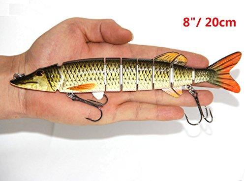 Discover Fish 820cm Big Pike Muskie Multi Jointed Fishing Lure Bait Life-like Swimbait Deepsea Swim Fish Huge New B