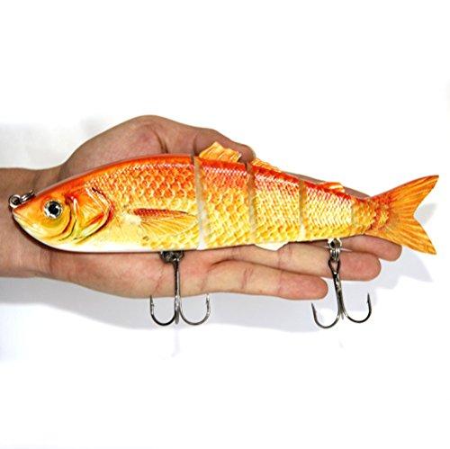 Discover Fish 8521cm Big Crucian Multi Jointed Fishing Lure Bait Life-like Swimbait Deepsea Swim Fish Huge New 1pcs A