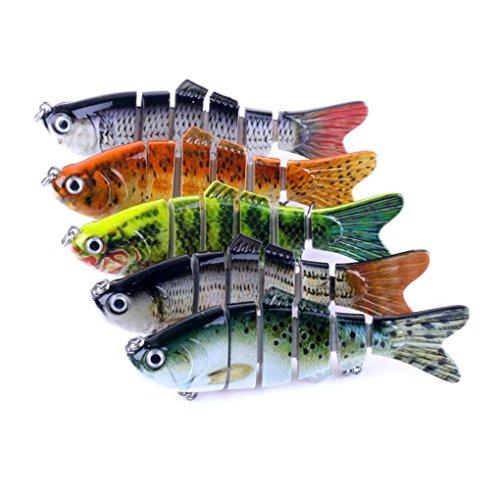 Sulear 6 Segment Koyot Swimbait Lures Crank baits Baits Hard Bait Fishing Lures