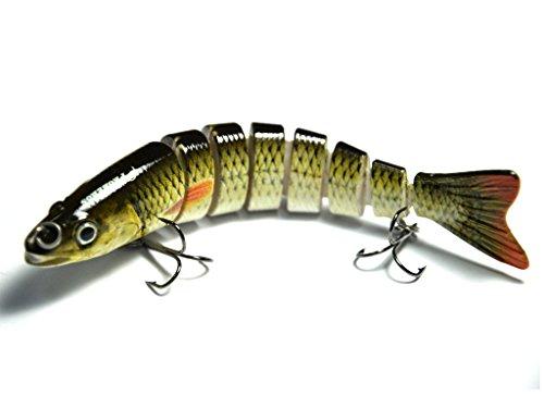 Supertrip 58-ounce 5-inch 8 Segment Swimbait Lures Crankbaits Baits Hard Bait Fishing Lures Colour Green