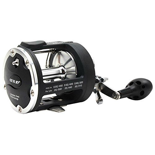 Isafish Trolling Reel With Alarm Function 381 Saltwater Freshwater Baitcasting Drum Fishing Reels Right Hand