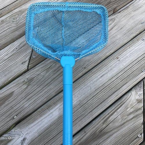 ILLUMINET Floating Bait Net Blue Versatile Net For Use as Critter Net Fishing Net Beach Toys Bug Net Butterfly Net Crab Net Shell Net Minnow Net Scoop Net Kids Net Fish Net - Blue
