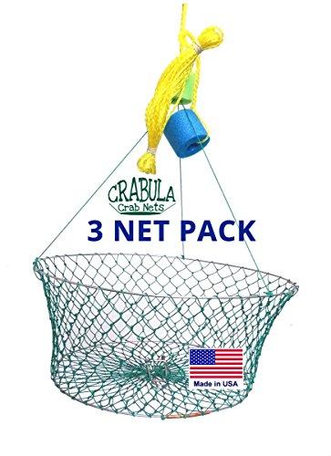 23  Crab Net 3 Pack Hand Made USA Crab Crabula