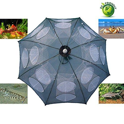 Fishing Net Trap Portable Folded Foldable Crab Net Cast Dip Bait Fish Shrimp Cage Automatic