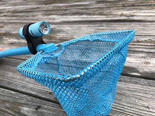 ILLUMINET Ghost Crabbing Kit  Critter Catcher  Shelling  Beach Toy  Kids Toy  Light Up Net - Illuminated Net For Use as Critter Net Fishing Net Bug Net Butterfly Net Crab Net - Blue