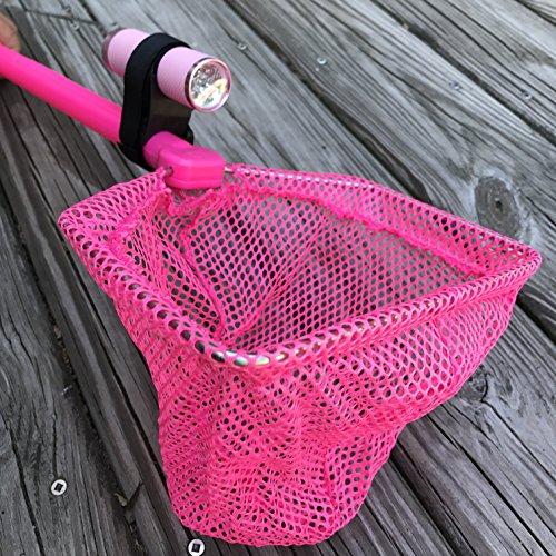 ILLUMINET Ghost Crabbing Kit  Critter Catcher  Shelling  Beach Toys  Light Up Net - Illuminated Net For Use as Critter Net Fishing Net Beach Toys Bug Net Butterfly Net Crab Net - Pink