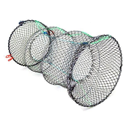 Jmkcoz 1PC Crab Trap Crawfish Lobster Shrimp Collapsible Cast Net Fishing Nets 10 x 177 25cm x 45cm Black Portable Folded Fishing Accessories