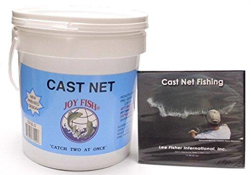 Joy Fish Professional Bait Cast Net 38 Sq Mesh 10Ft