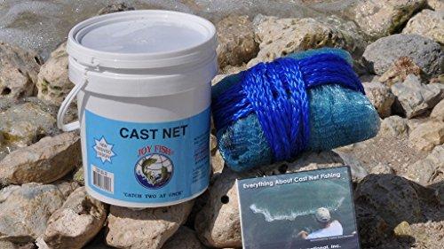 Joy Fish Professional Bait Cast Net 38 Sq Mesh 5 Ft